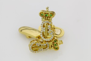 Men's yellow gold cuff links designed by Reddiam LTD